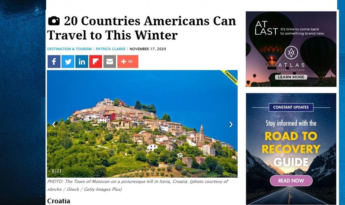 američki mediji hrvatske destinacije