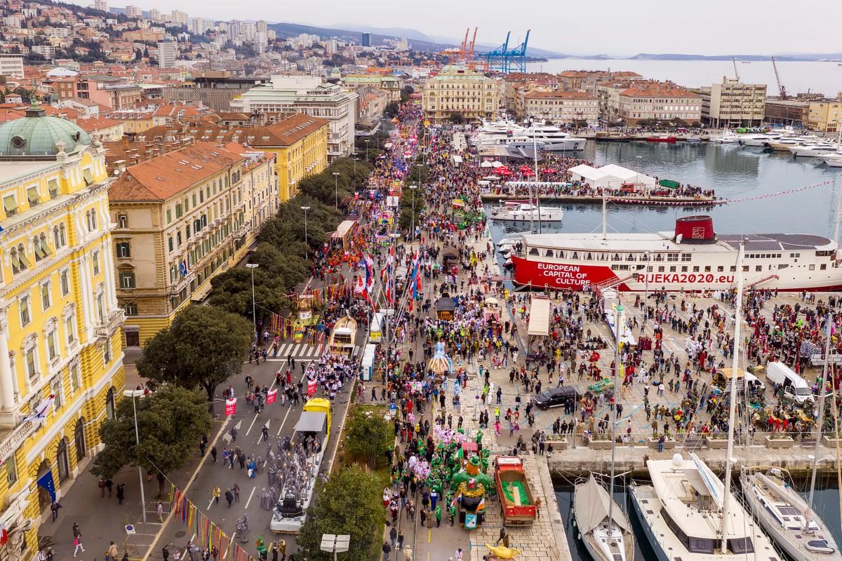 riječki karneval iz zraka